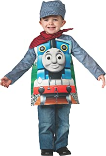 Rubies Thomas and Friends, Deluxe Thomas the Tank Engine and Engineer Costume, Child Small - Small One Color