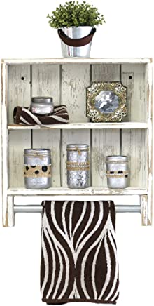 White Double Towel Rack