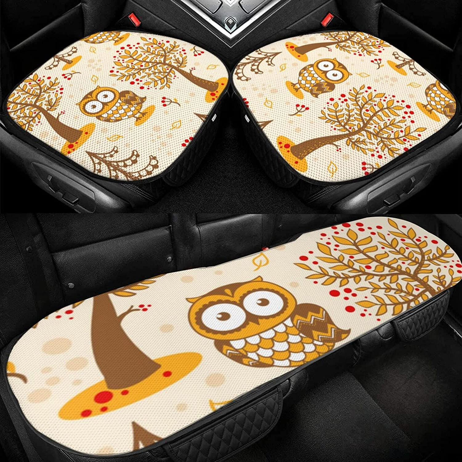 Ice Silk Cushion Owl Non-Slip Seat New mail order Unisex Max 76% OFF for Breathable