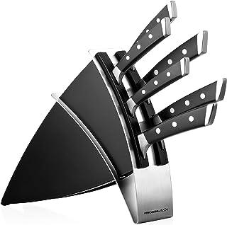Tescoma Tacoma con 6 Cuchillos AZZA, Negro