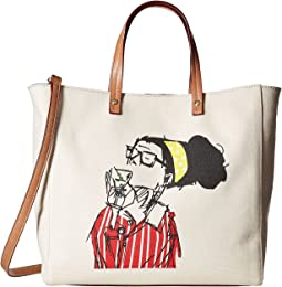 Frances Valentine - Large Margaret Katy Face Tote
