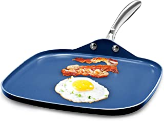 Granite Stone Diamond Granite Stone Classic Blue Nonstick Griddle Pan/Flat Grill with Ultra Durable Mineral and Diamond Tr...