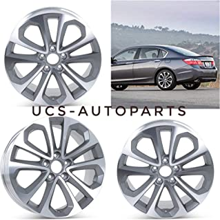 New 18 inch x 8 Replacement Alloy Wheels Rims compatible with Honda Accord 2003-2017   Size:18 x 8   Bolt Pattern: 5x114.3   Offset: 55 mm   Hub Bore: 64.1) Set of 4 Pieces f