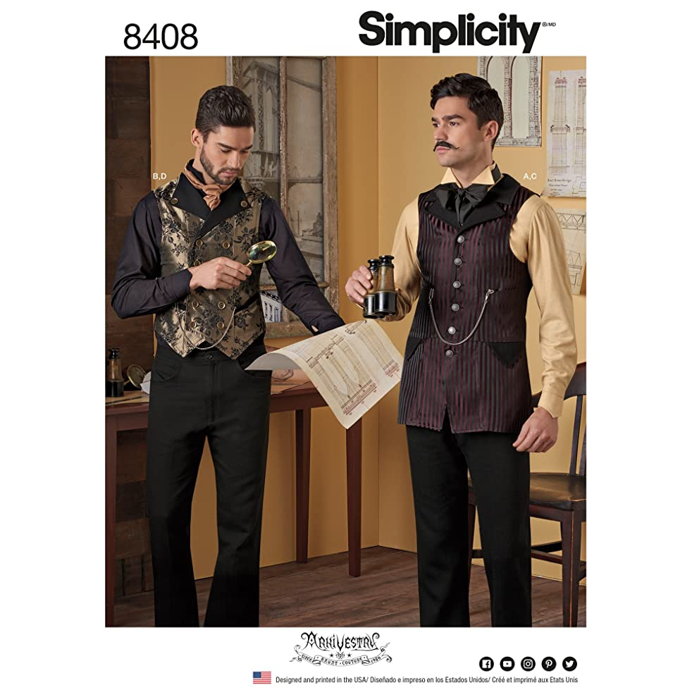 Simplicity Creative Patterns US8408BB Sewing Pattern Costumes, BB (46-48-50-52)