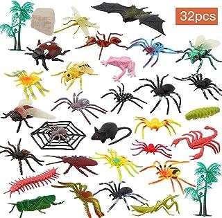comprar comparacion OOTSR 32 Piezas Insectos de plástico Bichos Figuras variadas realistas Juguetes de Insectos realistas Hechos PVC Calidad p...