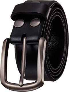 """KEEPBLANCE Men's Classic Casual Jean Style Strong Built Genuine Leather Belt (1.5"""" Width)"""