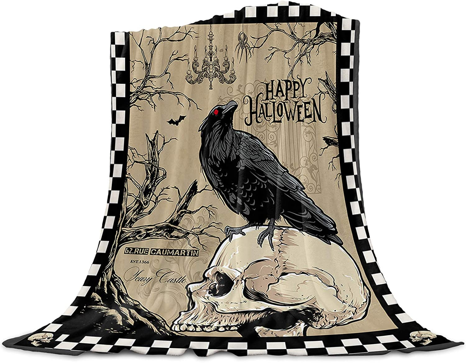Bloomhouse Max 54% OFF Halloween Throw Blankets Regular dealer Soft and Co Warm Fuzzy Plush
