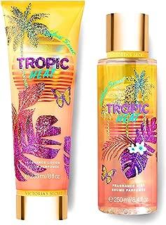 Victorias Secret Tropic Dreams Fragrance Mist and Lotion Set (2PC) - Summer Scent 8.4 fl oz & 8 fl oz (Tropic Heat)