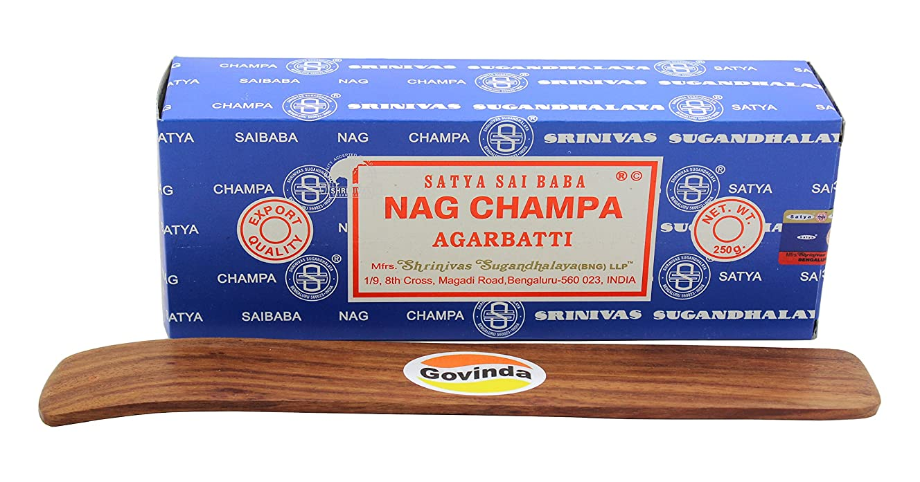 サンドイッチジェスチャー忌み嫌うSatyaバンガロール(BNG) Nag Champa argarbatti 250グラムwith (Govinda Incense Holder)
