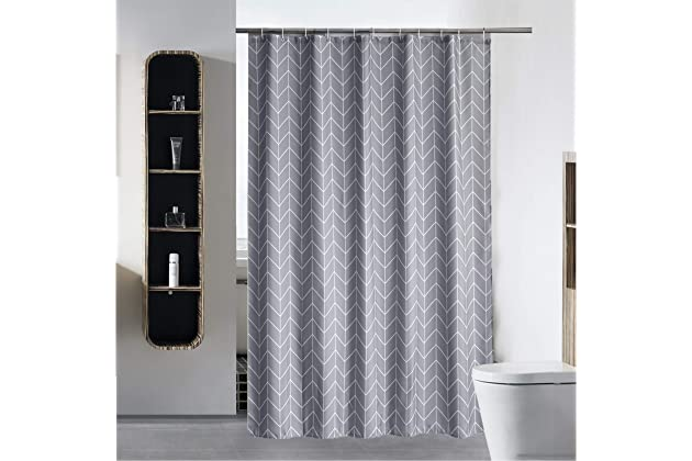 SLattye Luxury Shower Curtain Liner For Bathroom Water Repellent Fabric Mildew Resistant Washable Cloth Hotel Quality Eco Friendly Heavy Weight Hem