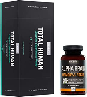 ONNIT Total Human + Alpha Brain 90ct Stack