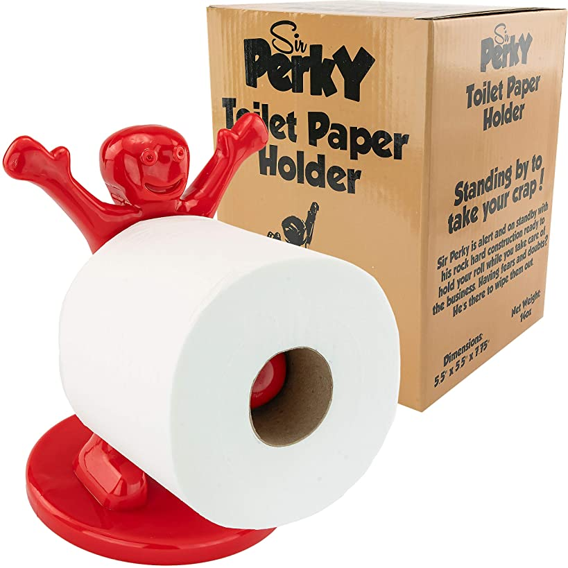Sir Perky Novelty Gag Gift Toilet Paper Holder