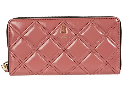 Marc Jacobs The Quilted Softshot Standard Continental Wallet (Santa Fe Red) Wallet Handbags