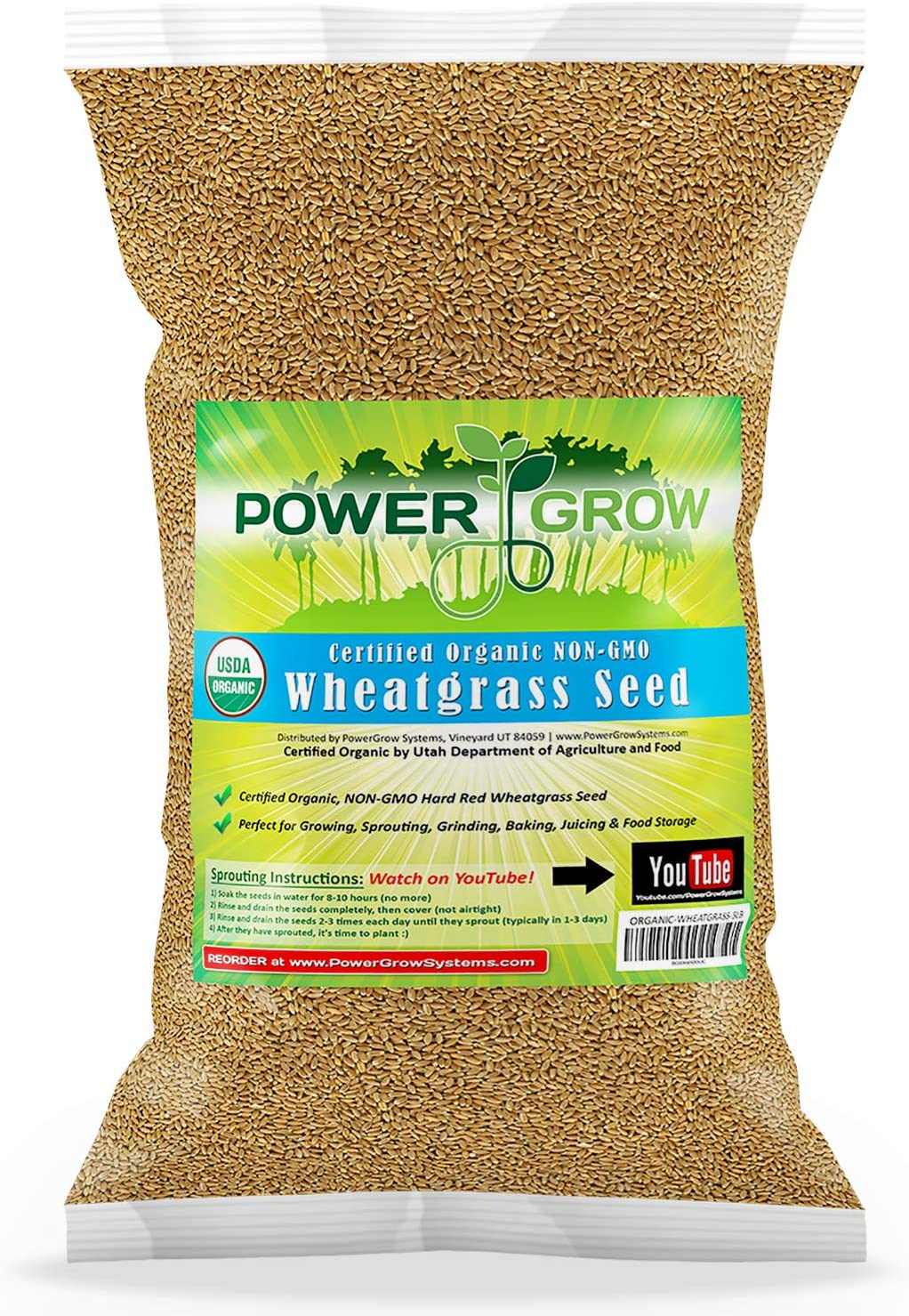 Chemical Free Hard Inventory cleanup Limited price sale selling sale Red Wheat Seed 5 Wheatgr Grow - Lbs Plant