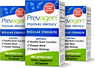 Prevagen Improves Memory - Regular Strength 10mg, 30 Capsules |3 Pack| with Apoaequorin & Vitamin D | Brain Supplement for...
