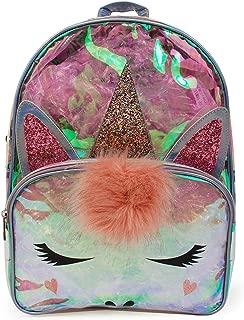 Large Unicorn Backpack Purse Daypack Bag for Women (Large Backpack - Clear Unicorn)