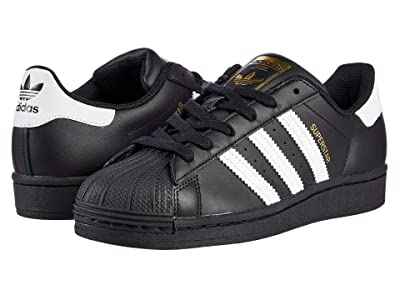 adidas Originals Kids Superstar (Big Kid) (Black/White/Black) Kids Shoes
