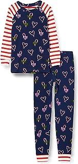 Hatley Organic Cotton Raglan Long Sleeve Printed Pyjama Set Pigiama Bambina