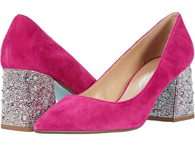 Blue by Betsey Johnson Paige Pump (Fuchsia Suede) Women