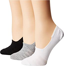 LAUREN Ralph Lauren Flat Knit Sneaker Liner 3-Pack