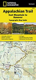 Appalachian Trail, East Mountain to Hanover [Vermont] (National Geographic Topographic Map Guide)
