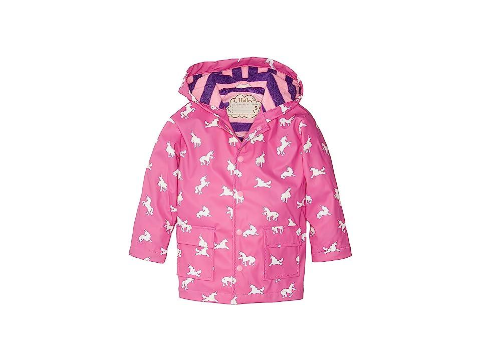 Hatley Kids - Hatley Kids Color Changing Unicorn Silhouettes Raincoat