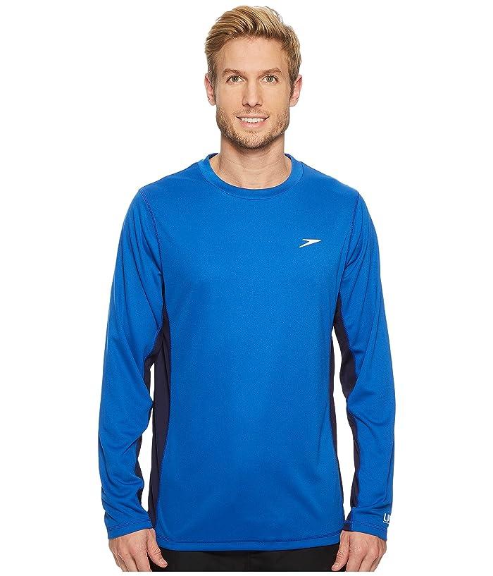 Speedo  Longview Long Sleeve Swim Tee (Classic Blue) Mens Swimwear