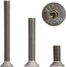 Senkkopfschrauben M6 x 55 1 St/ück mit Innensechskant Falk-Schrauben Nirosta V2A DIN 7991 Edelstahl A2