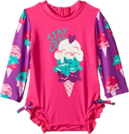 Hatley Kids Ice Cream Treats Mini Rashguard Swimsuit (Infant)