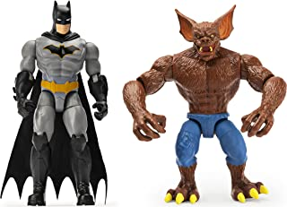 DC Comics Batman 2 Figures Set Batman and Man Bat with Great Accessories Scale 10 cm