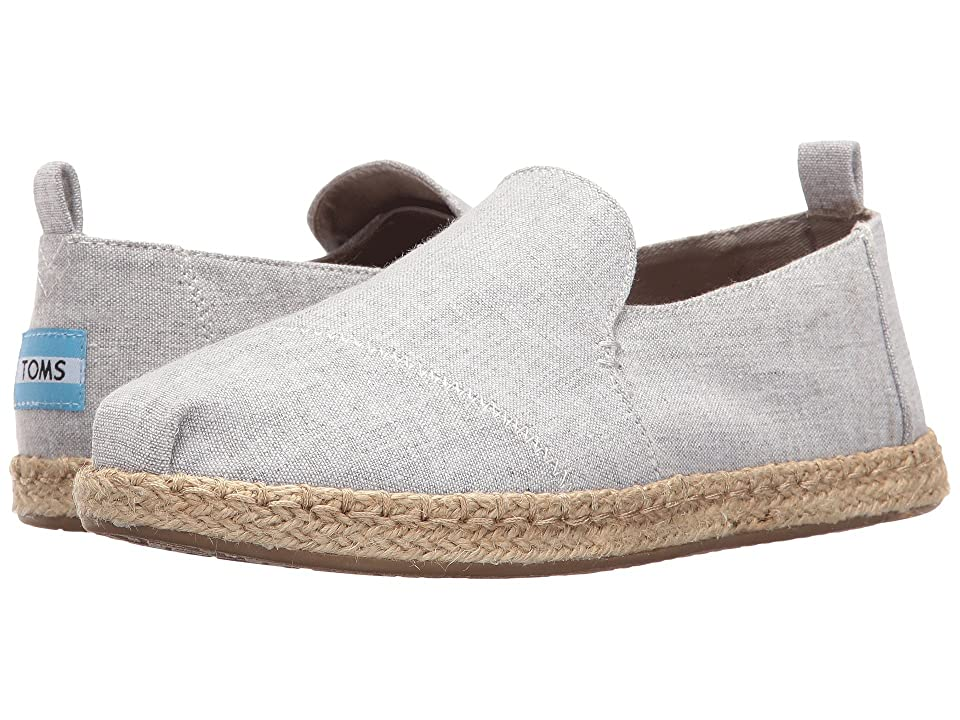TOMS Deconstructed Alpargata (Drizzle Grey Slub Chambray) Women