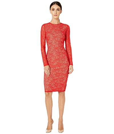 Bardot Rini Lace Dress (Fire Red) Women