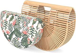 Bamboo Handbag - Womens Basket Bag with Purse Insert - Handmade Summer Tote