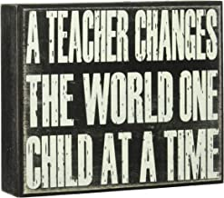 JennyGems- A Teacher Changes The World One Child at A Time - For Teachers, Teacher Appreciation Teacher Gift, Gifts for Teachers, End of Year Present, Devotionals For Teachers,Teacher Signs, educator