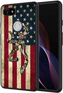 Google Pixel 2 XL Case, AIRWEE Slim Shockproof Silicone TPU Back Protective Cover Case for Google Pixel 2 XL (2017),Camo American Flag