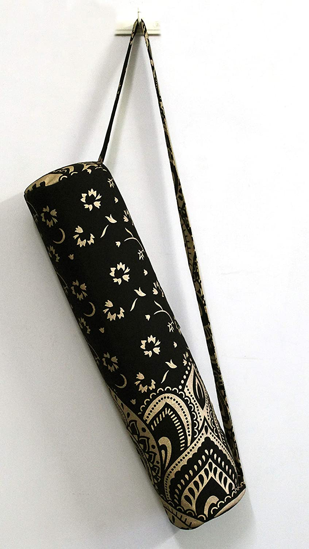Tie Dye Yoga Mat Carrier Beach Bag With Shoulder Strap Indian Mandala Large Bags