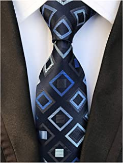 9b81630416b9 3 · Elfeves Men Modern Checks Ties Tartan Plaid Gingham Pattern Formal Suit  Neckties