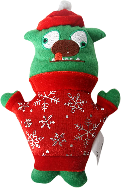 DEI Holiday Plush  Green Ugly Dog  Toy