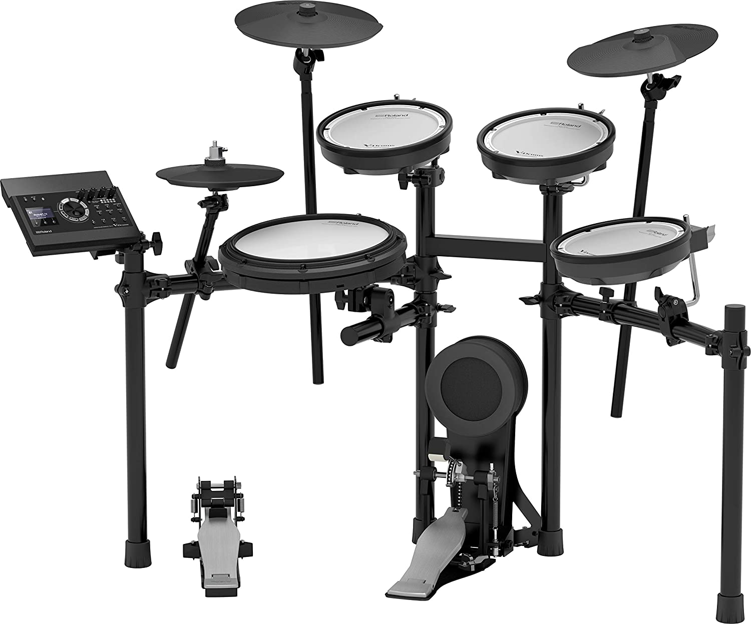 Amazon.com: Roland V-Compact Series Electronic Drum Kit, BLACK, Set (TD-17KV-S): Musical Instruments