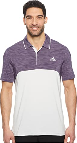 adidas Golf Ultimate Heather Blocked Polo