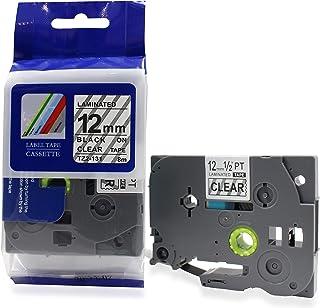 Fita Compatível TZ-131 Tze-131 Transparente 12mm para Rotulador Brother PT-H105 PT-H110 PT-D210