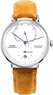 Energy Display Automatic Watches,Men's Ultra-Thin Simple Style Unique Curved Mirro Mechanical Watch