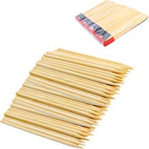 """Chef Craft 21893-4PK Pack of 120 Bamboo Apple Sticks, 6"""" Long, 5mm Thick, Silver"""