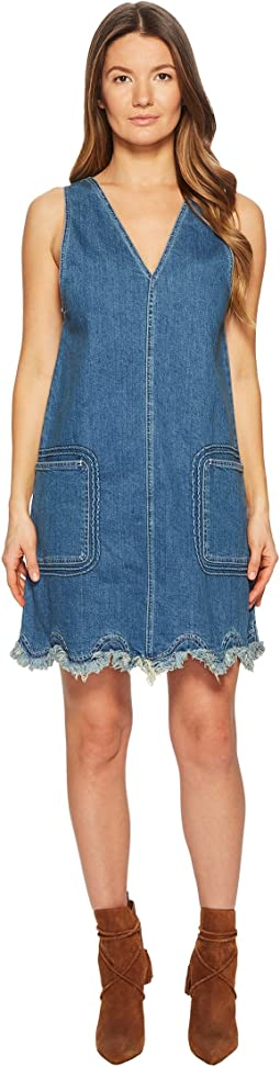 Denim Scallop Dress