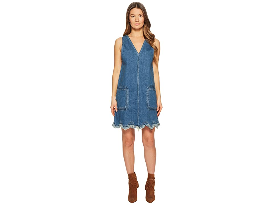 79c6eb356e4 See by Chloe Denim Scallop Dress (Shady Cobalt) Women s Dress