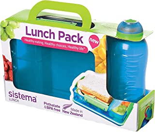 Sistema Lunch Pack with Snack Attack Duo and Twist 'N' Sip Bottle, Multicolor