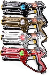USA Toyz Laser Tag Toy Guns for Boys and Girls - 4pk Kids Toys Multiplayer Shooting Game Lazer Tag Set w/ 4 Laser Tag Guns...
