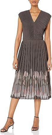 Dear Drew by Drew Barrymore Women's The Impressionist Pleater V-Neck Midi Dress