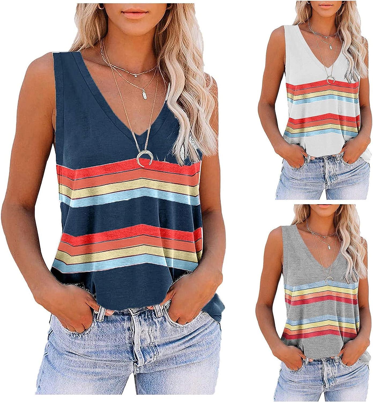 POLLYANNA KEONG Tops for Women Casual Summer Sexy,Womens Tank Tops Sleeveless Casual Loose Fit Blouse Tshirts Shirts