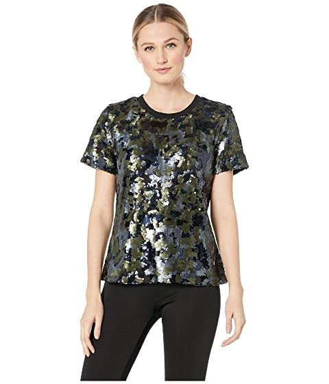 c26d273f5 TWO by Vince Camuto Short Sleeve Sequin Camo Tee at 6pm